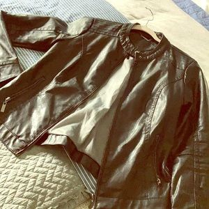 High quality, pleather, biker jacket